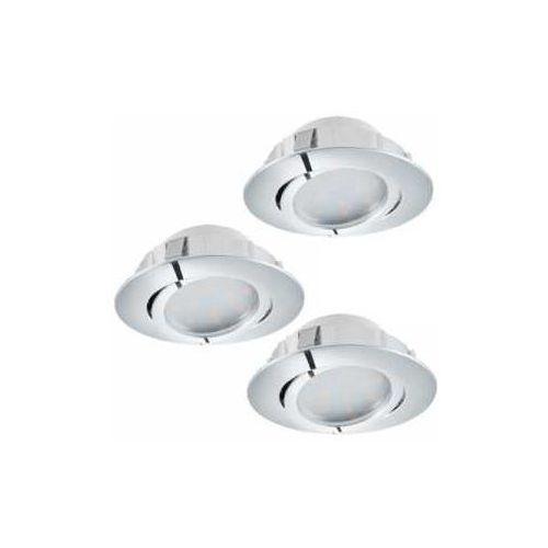 Eglo 95858 - Zestaw 3x LED Oprawa wpuszczana PINEDA 3xLED/6W/230V (9002759958589)