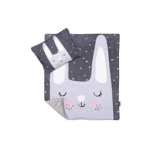 Pulp kocyk z poduszką minky królik 70 x 85 cm | u nas skompletujesz całą wyprawkę | szybka wysyłka (5903299991422)