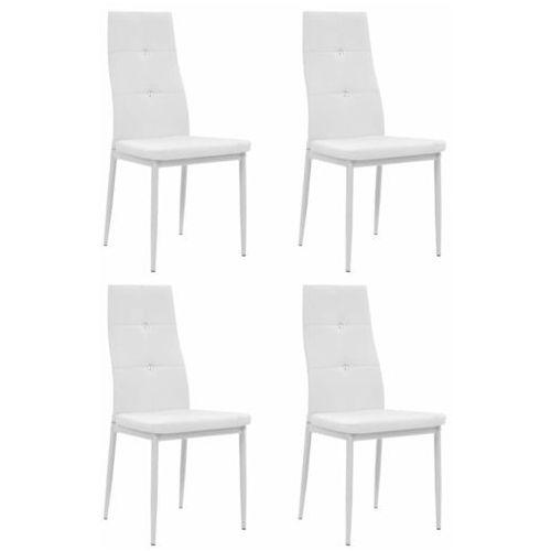 Krzesła ze sztucznej skóry, 4 szt., 43 x 43,5 x 96 cm, białe marki Vidaxl