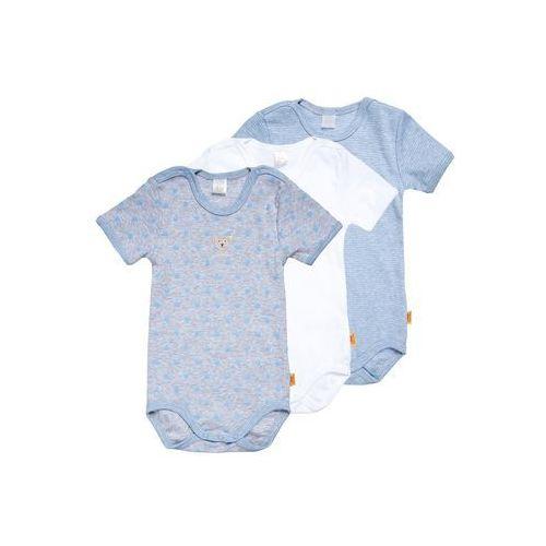 Steiff Collection 1/4 ARM NEWBORN ESSENTIALS BABY 3 PACK Body della robbia blue (4056178737114)