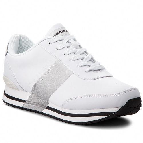 Sneakersy CALVIN KLEIN JEANS - Elwin SE8592 White/Silver, kolor biały