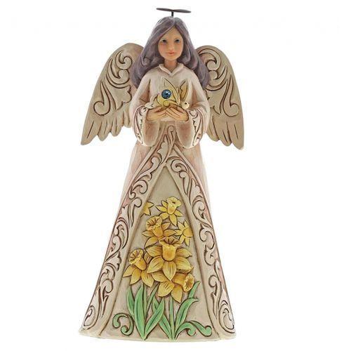 Anioł marzec patron urodzonych w marcu march angel 6001564 , pamiątka narodzin, chrztu marki Jim shore