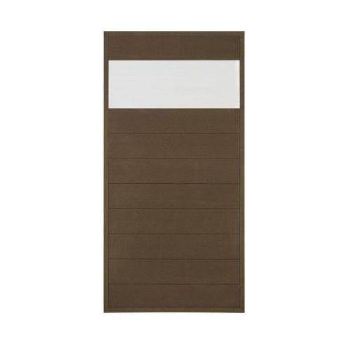 Winfloor Płot kompozytowy 86.5x173 cm brązowy wpc