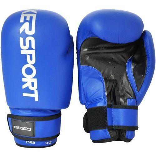 Axer sport Rękawice bokserskie a1323 niebieski (12 oz) (5901780913236)