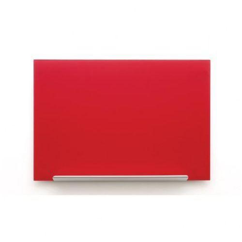 Tablica szklana diamond 1260x711 czerwona marki Nobo