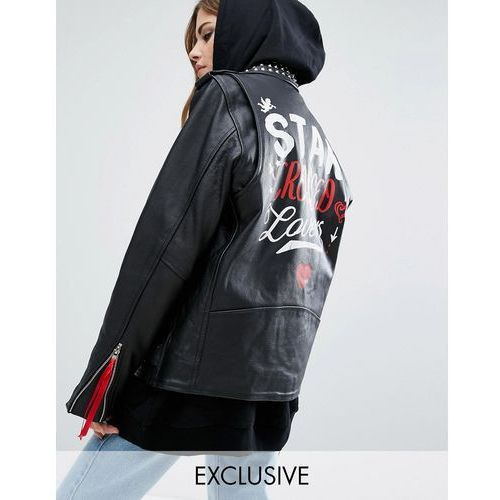 Reclaimed Vintage X Romeo And Juliet Leather Biker Jacket - Black ()