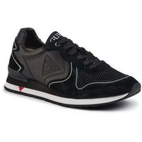 Sneakersy - new glorym fm5ngl lea12 black, Guess, 44-45