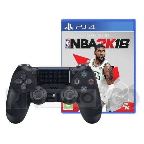 Sony dualshock 4 v2 (czarny) + gra nba 2k18 - produkt w magazynie - szybka wysyłka!