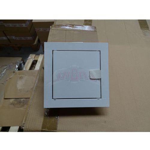 WYPRZEDAŻ Drzwiczki Rewizyjne metalowe 15x15 cm RAL 9002 Białe na zatrzask RD-1515, RD-1515 WYPRZEDAZ