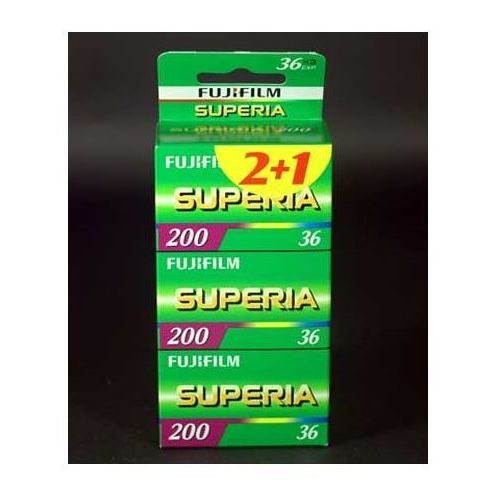 Fuji Superia 200/36 x 3 negatyw kolorowy typ 135, kup u jednego z partnerów