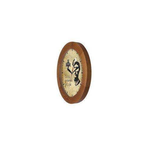 Zegar drewniany solid Zołnierze Niezłomni