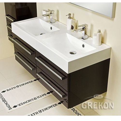 Gante Szafka łazienkowa z umywalką 120/50/4 fokus wenge połysk