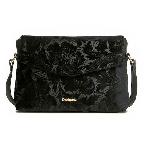 Desigual torebka damska czarny Bilbao Velvety, kolor czarny
