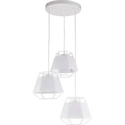 Lampa wisząca druciana zwis oprawa diament TK Lighting Cristal White 3x60W E27 biała 1853 (5901780518530)