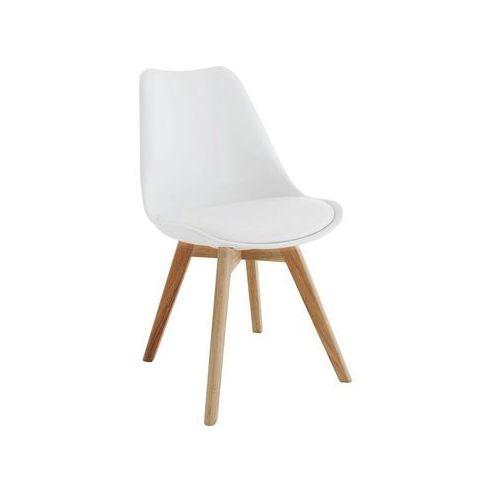 Krzesło z poduszką Eteo Wood białe