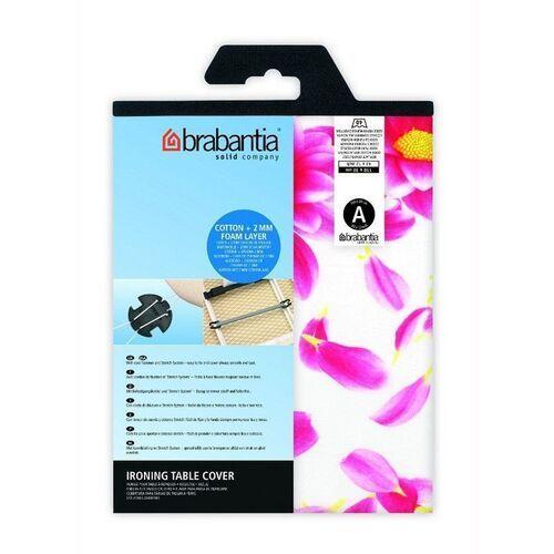 - pokrowiec na deskę do prasowania 124 x 38cm - pianka 4mm + filc 4mm - pink santini - różowy marki Brabantia