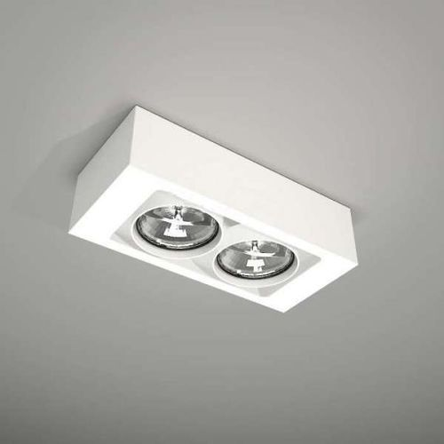 Plafon LAMPA sufitowa UTO 1144/GU10/BI Shilo natynkowa OPRAWA REFLEKTOR biały