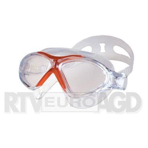 Spokey vista - okularki - półmaska (biało-czerwone) (5901180392051)