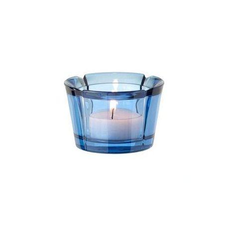- szklany świecznik, granatowy marki Rosendahl