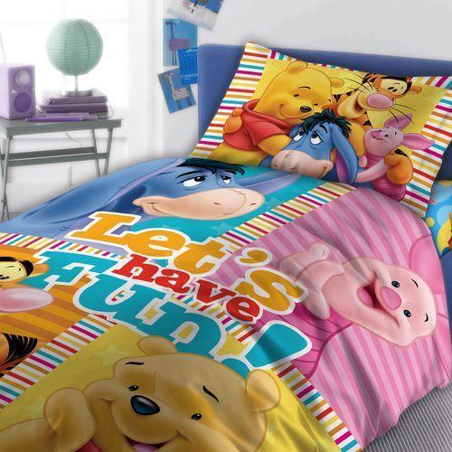 Pościel Disney Kubuś Puchatek 160x200+70x80 - Faro DARMOWA DOSTAWA KIOSK RUCHU