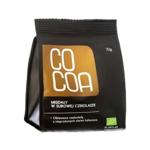 Cocoa 70g migdały w surowej czekoladzie bio