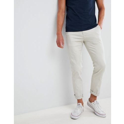Burton menswear skinny fit chinos in stone - beige