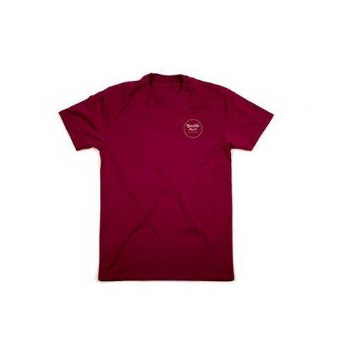 koszulka BRIXTON - Wheeler Ii S/S Stnd Tee Burgundy/Gold (BUGLW) rozmiar: XL, 1 rozmiar