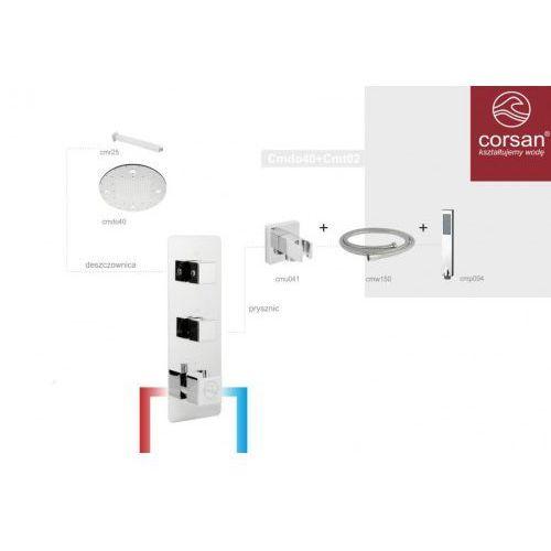 Corsan zestaw podtynkowy termostatyczny Cmdo40+Cmt02, Cmdo40+Cmt02