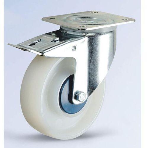 Kółko z poliamidu, białe, ø x szer. kółka 125x36 mm, rolka skrętna z podwójną bl marki Tente