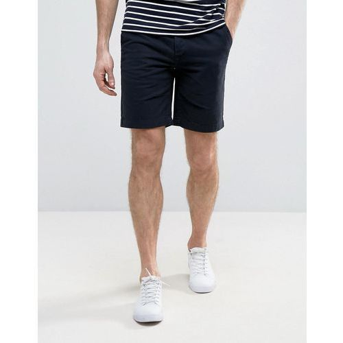 chino slim fit shorts with belt in navy - navy marki River island