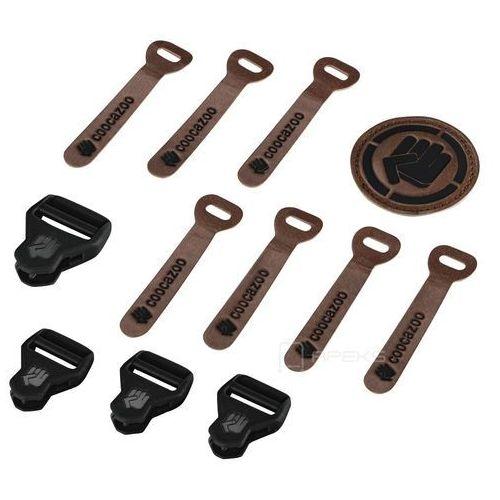 Coocazoo matchpatch leather black melange zestaw elementów wymiennych - czarny ||brązowy