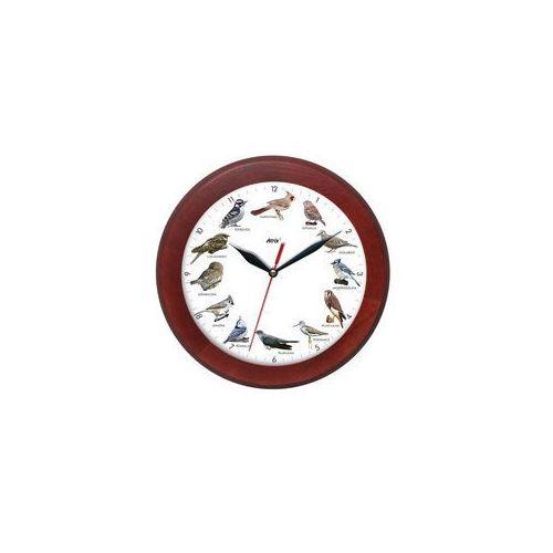 Zegar z głosami ptaków drewniany rondo #3B, ATW301PK5