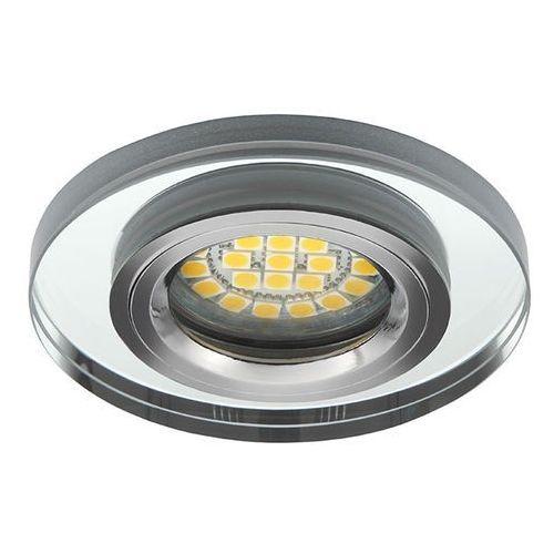 Kanlux Oczko led/halogen okrągłe przeźroczyste srebro szklane morta ct-dso50-sr