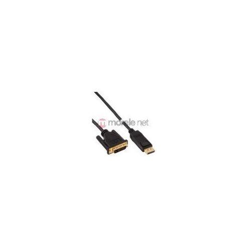 InLine kabel DisplayPort / konwerter DVI, czarny, 3m - produkt z kategorii- Kable video