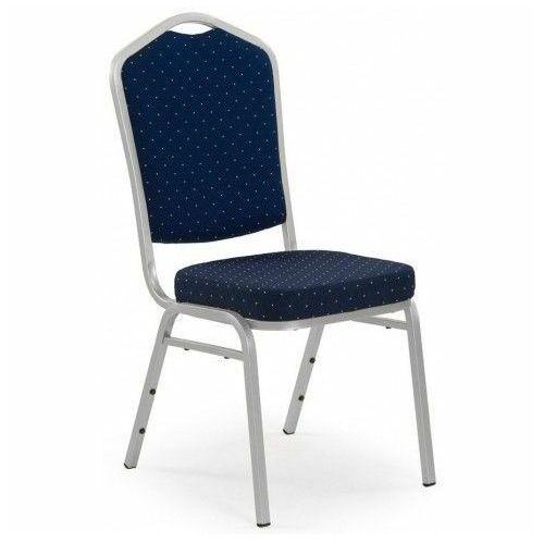Barokowe krzesło abrax - granat + srebrny marki Profeos.eu