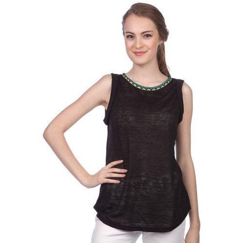 Brave Soul koszulka bez rękawów damska Agnes M czarny, kolor czarny