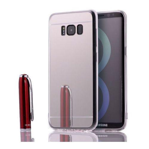 Slim Mirror Case Srebrny | Etui dla Samsung Galaxy S8 Plus - Srebrny, kolor szary