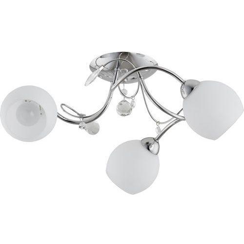 Lampa wisząca Alfa Livia 21523 3x40W E14 chrom/biała (5900458215238)