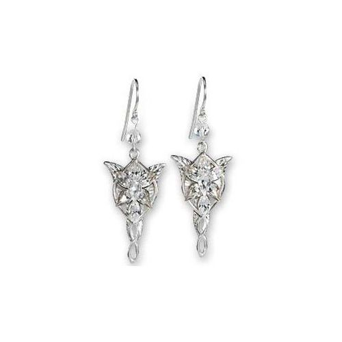 Lotr arwens evenstar earrrings - srebrne kolczyki (nn2987) marki The noble collection
