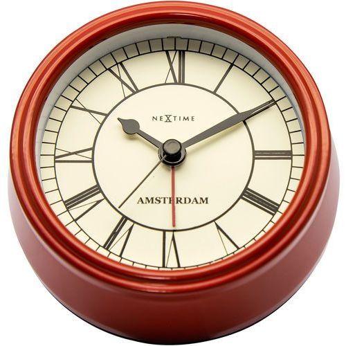 Nextime Budzik amsterdam 11 cm, czerwony (5199 ro)