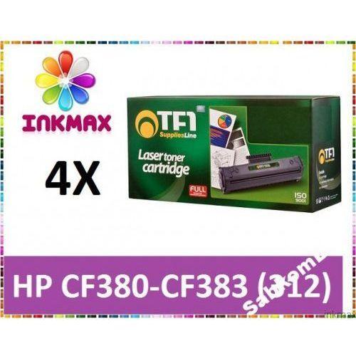 4x TONER HP 312A TFO CF380X CF381A CF382A CF383A CMYK