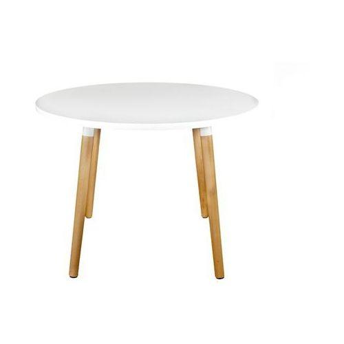 Stół Copine okrągły biały/ naturalny 100 cm D2.DESIGN