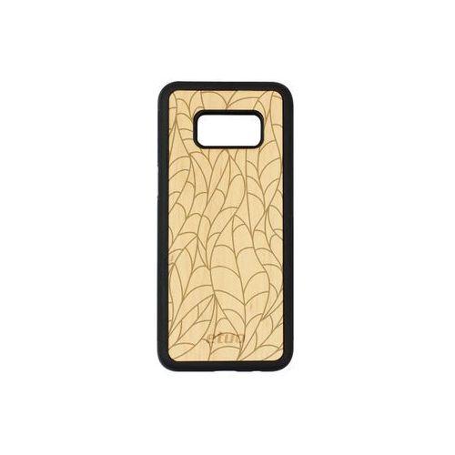 Samsung Galaxy S8 - etui na telefon Wood Case - olcha - liście, ETSM489EWODOL002000