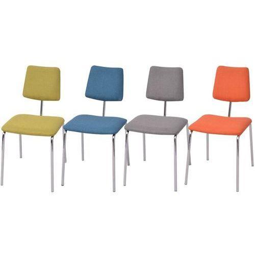 krzesła jadalniane materiałowe, kolorowe, 4 szt. marki Vidaxl