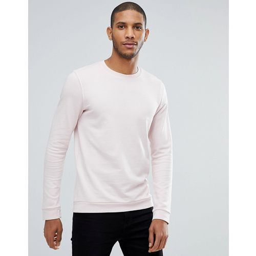 Tom Tailor Crew Neck Sweatshirt In Pink Pigment Dye - Pink