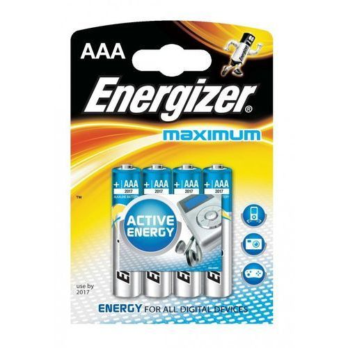 Bateria ENERGIZER Maximum, AAA, LR03, 1,5V, 4szt. - OKAZJE