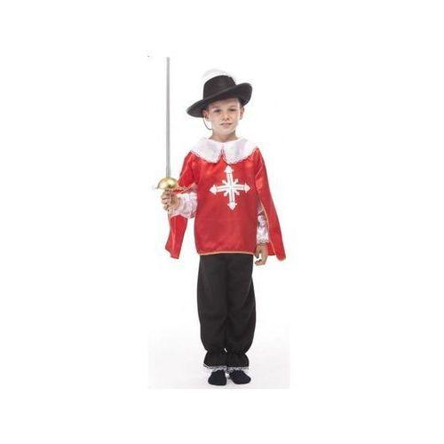 Aster Muszkieter czerwony - przebrania dla dzieci, - 122 cm
