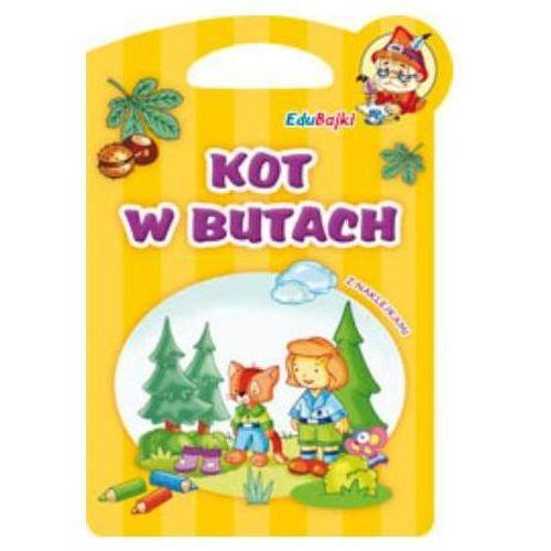 Kot w butach. EduBajki z naklejkami Joanna Skóra, Agnieszka Sabak, Dorota Fic (ilustr.) (9788374376310)