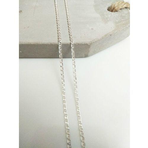 Srebrny (925) łańcuszek GUCCI 45 cm, kolor szary