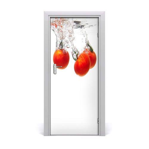 Naklejka na drzwi samoprzylepna Pomidory pod wodą